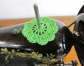 Spool Pin Doily (Bright Green)