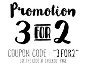 Promotion 3-for-2 on ANY Print Designs, poster, typography, wall decor, mottos, home decor, inspirational, gift idea