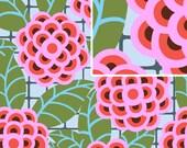cameo fabric, amy butler, tea rose - silver, 1 yard