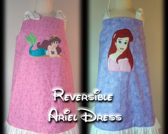 Ready to Ship Reversible Ariel Dress Size 4T