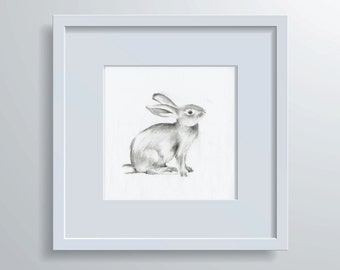 Bunny Print 1 Hand Drawn Illustration