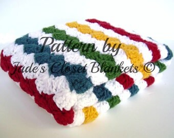 Crochet Baby Blanket Pattern, Instant Download, PDF Pattern, White and Primary Rainbow, Gender Neutral Blanket, Crib size and Travel size
