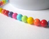 35 Mixed Czech Opague Coated Glass Beads - 6mm
