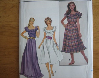 Butterick Pattern 4338 Misses' Dress    1980's    Uncut