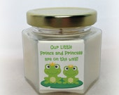 Twin Shower Favor, Frogs, Baby Shower Favor, Twin Shower Favor, Prince and Princess