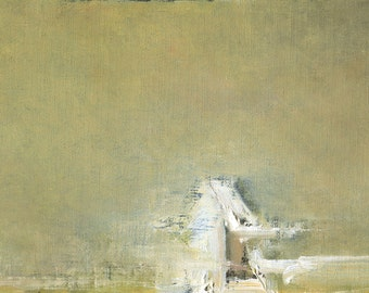 The Winter Handsel — Original Oil Painting, Landscape Painting, Abstract Landscape, Original Painting, Abstract Oil Painting, 5 x 7