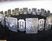 Amazing Antique Silver Belt Peacocks Elephants Lions Moonstones Wedding Dowery Belly Dancer Museum Quality