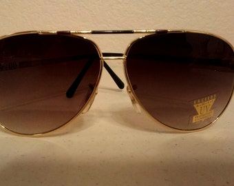 True Vintage 1970 Aviator Shades Old/store Stock