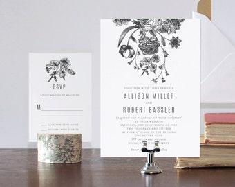 Garden Bouquet Wedding Invitation Suite