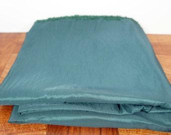 "A little less than 4 yards emerald green taffeta, green fabric, 58"" wide, apparel fabric"