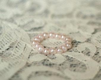 Newborn Pearl Bracelet, Sweetest Princess Pink Pearl Bracelet, Newborn Photography Prop, Baby Bracelet, Newborn Bracelet