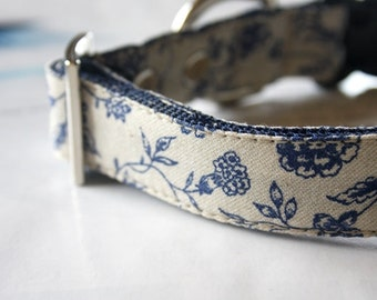 French Style Shabby Floral Dog Collar