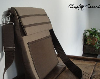 20%off Ready-to-Ship 13.5 laptop Bag - Fully PADDED Messenger bag with 2 interior Pockets - 2 exterior POCKETS / water resistant lining