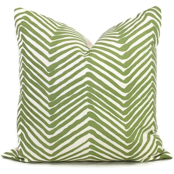Queen Throw Pillows : Jungle Green Zig Zag Quadrille Pillow Cover Square Eurosham