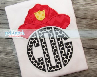 Made for Monogram Firefighter Fireman Hat Appliqué Design Machine Embroidery INSTANT DOWNLOAD