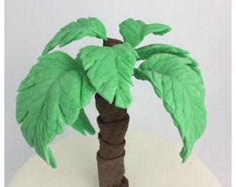 Fondant Palm Tree Cake Topper