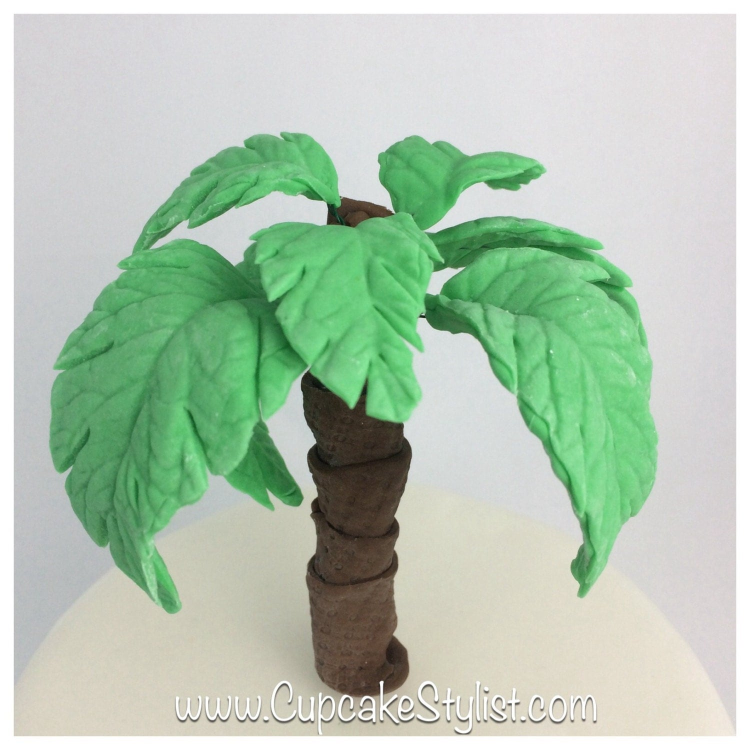 Fondant Palm Tree Cake Topper