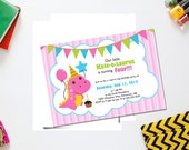 Dinosaur girl birthday invite/ girl dinosaur birthday/ printable birthday invitation/ dinosaur birthday party/ girl birthday party invite