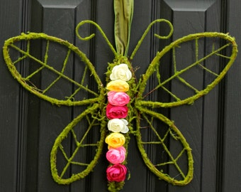 Spring and Summer Wreath - Butterfly Wreath - Door Wreath