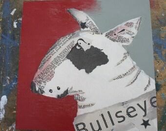 Original Bull Terrier Collage Bullseye Guilty Bull Terrier