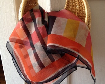 Vintage Color Block Scarf