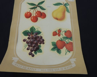 Vintage 1970's Meyercord Fruit Decals (NOS)