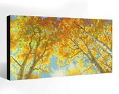 OIL Painting LANDSCAPE Painting Giclee Print Canvas Print Fine Art Print of ORIGINAL Painting Aspen Fall Trees Painting