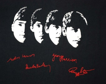 The Beatles Signature Shirt 1980s vintage