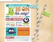 Monster Baby Shower Invitation for any gender Printable