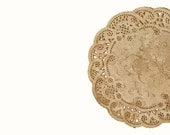 Vintage style paper doilies Walnut stained various sizes. DIY Wedding Round doilies in French Lace style with brown rustic stai