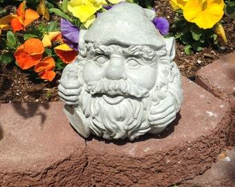 Concrete Round Garden Gnome Statue