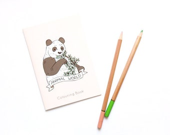 SALE Animal World Colouring Book