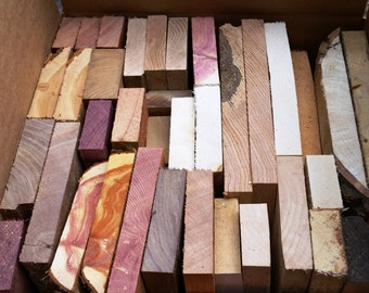 Nice Scrap Box of Thick Boards, Great For Intarsia or Other Craft Work (sbco)
