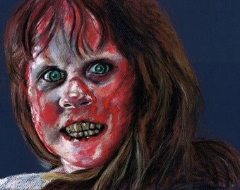 The Exorcist - Original Pastel Drawing by Chantal Handley