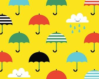 Small World Corduroy - Singin' In The Rain - Organic Cotton Corduroy Fabric from Cloud 9 Fabrics