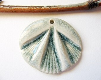 Moth Wing Pendant Stoneware Clay
