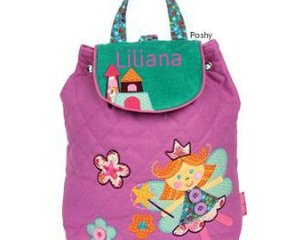 Personalized Backpack Stephen Joseph Quilted Signature Fairy