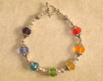 Glass Crystal Chakra Bracelet