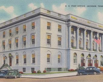 Jackson, Tennessee, Post Office - Linen Postcard - Unused (FFF)