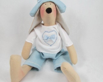 Tilda Bunny - Blue with sweater