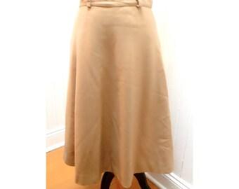 Vintage 1960s Long Wool Evan Picone Skirt - S
