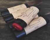 RED, tinted lip balm, natural vegan lipbalm