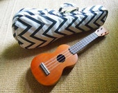 soprano ukulele case - Black and White Chevron Ukulele Bag (Ready to ship)