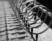 Fence photograph, Wrought Iron Fence, Urban wall art, Romantic City, Abstract fence, Architecture detail, Minimalist decor, Black and White