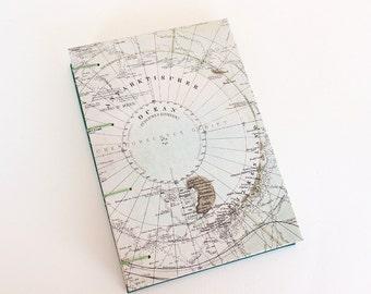 Handmade Journal - Antarctica Map