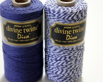 CLOSEOUT - Baker's Twine - Violet Diva Solid Divine Twine - Full Spool - 240 yards