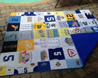 Sports T-shirt Quilt Custom Made Memory quilt DEPOSIT ONLY