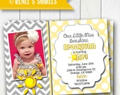 SUNSHINE Invitation - Printable Sun Birthday or Shower Invite - Personalized DIY - You Are My Sunshine invitation - Photo optional