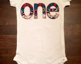 Girl's First Birthday Shirt- ONE Customized for Birthday Themes