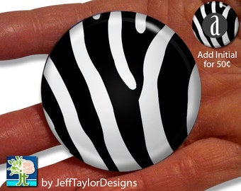 Zebra Print Pocket Mirror